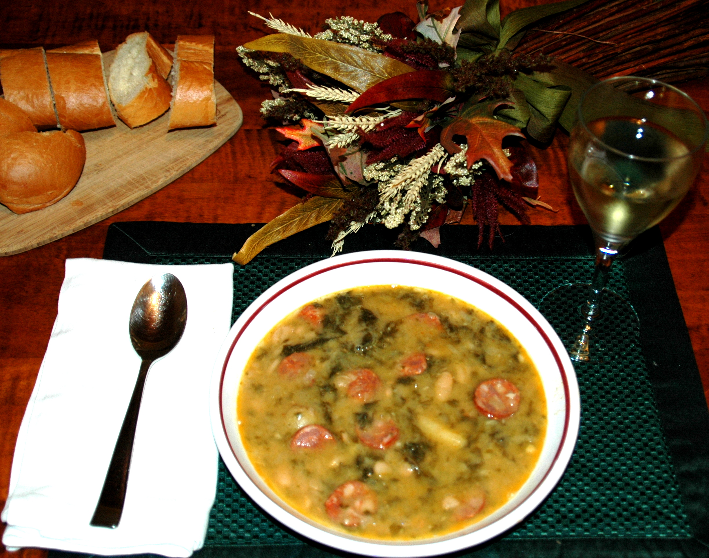 Portuguese Kale Soup | The Literate Chef