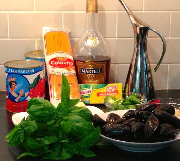 Ingredients for Mussels Marinara
