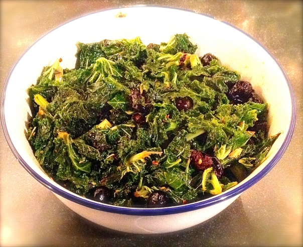 Kale with Black Olives