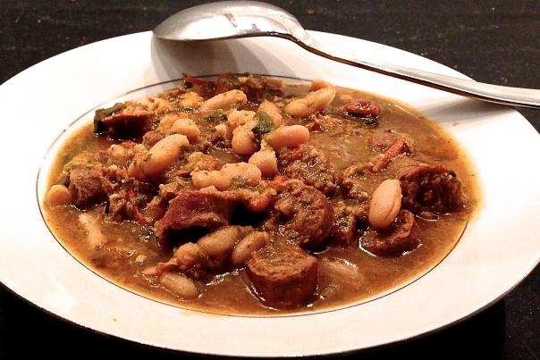 Provencal Bean Soup with Merguez Sausage