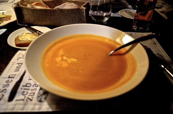 Carrot-Ginger Soup Stiftskeller St. Peter