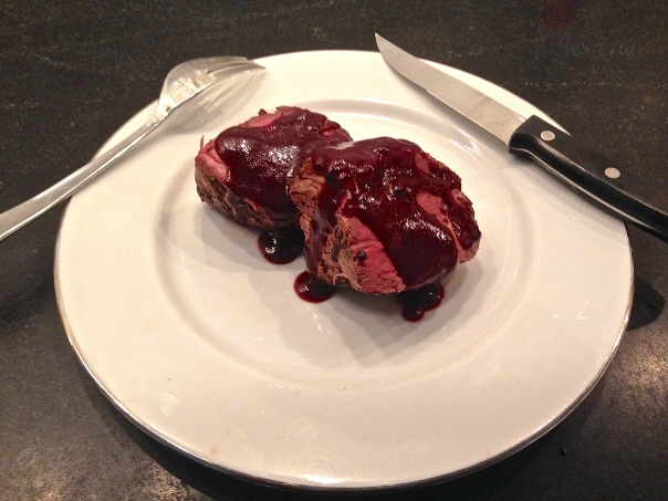 Filet Mignon with Port Wine Reduction Sauce