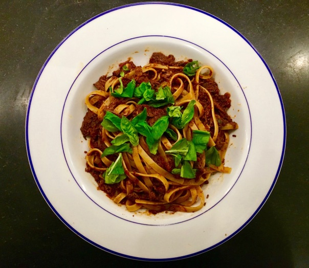 Wild Boar Ragu with Fettucine